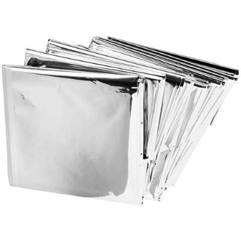 Paquete De 5 Supervivencia en Emergencias Manta carpa de aluminio a prueba de Solar Térmica Agua rescate