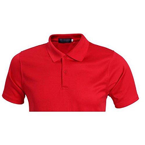 Demarkt Herren Poloshirt Polo T-Shirt Polohemd Kurzarm Polyester Rot XXXL Rot x XXXL