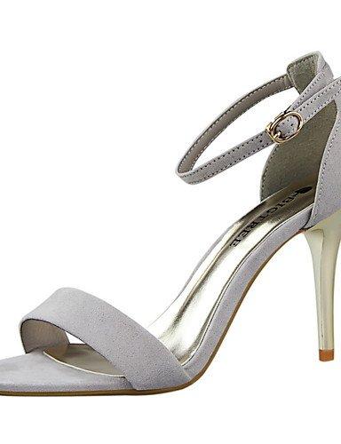 WSS 2016 Chaussures Femme-Habillé-Noir / Vert / Rose / Rouge / Argent / Gris / Or-Talon Aiguille-Talons / Bout Pointu / Bout Ouvert-Talons-Daim red-us6.5-7 / eu37 / uk4.5-5 / cn37