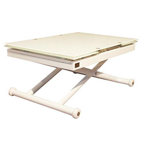 Tavolo saliscendi allungabile vetro tavolo salotto EXTRA WHITE RR Design Jordan