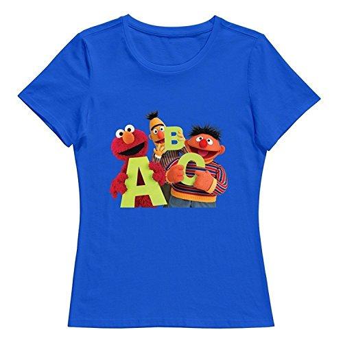 StaBe Woman Sesame Street Logo T-Shirt Slim Fit Quotes DeepHeather