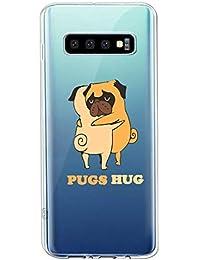 Oihxse Transparente Funda para Samsung Galaxy A5 2018/A8 2018 Ultrafina Silicona Suave TPU Carcasa Interesante Perro Patrón Flexible Protectora Estuche Antigolpes Anti-Choque (A9)