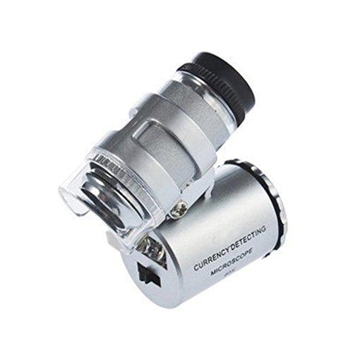 LY Neu Handlupe 60 Fach mini Mikroskop Vergrößerung Vergrößerungsglas Lupe mit Led Beleuchtung...