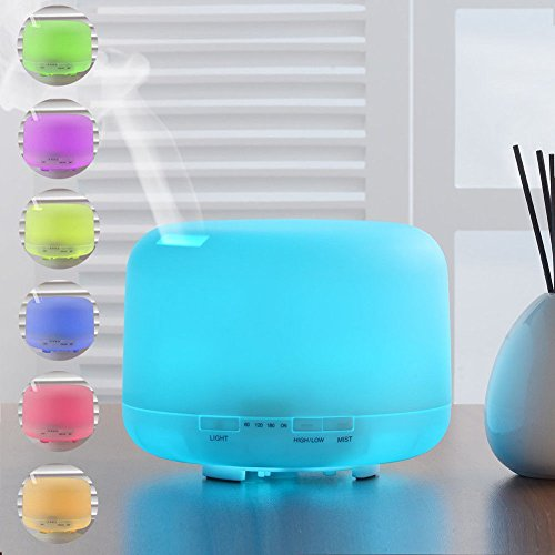 DIFFUSORE PROFUMO UMIDIFICATORE AMBIENTI LED RGB AROMATERAPIA CROMOTERAPIA