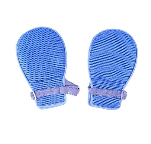 ZJDU Krankenbett-patientengurthandschuhhandschuhe Alzheimer-krankheitsbefestigung Gliedmaßen Binden Von Schutzhandschuhen Handschuhband,Blue