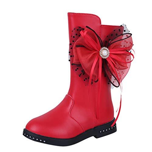 UOMOGO Bambino Toddler Ragazze Floreale Scarpe per Bambini Inverno Caldo Stivali Boot Scarpe