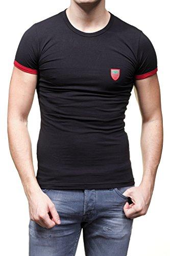 Emporio Armani Herren T-Shirt Schwarz Schwarz Schwarz - Schwarz