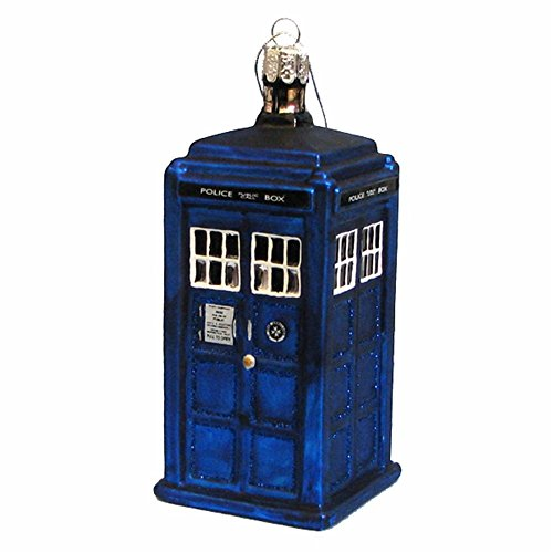 Doctor Who Glas-Ornament Tardis Polizei-Box