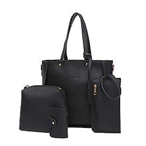 Sale Sonnena 4 stücke Frauen Damen Quadratische Handtasche Schultertaschen Tragetasche Crossbody Geldbörsen Taschen Sets Vintage Reißverschluss Umhängetasche Rucksäcke