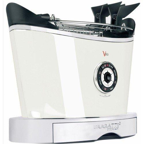 """930W Toaster """"Volo"""" in Schwarz matt / Weiß"""