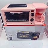 WDNMZX Tostadora Cafetera Horno Doméstico Máquina De Desayuno Tres En Uno Directa Cocción Rojo