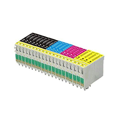 20 compatible printer ink cartridges (4 Series of 4 + 4 black) para Epson Stylus SX125 SX130 S22 SX420W SX425W SX445W BX305F BX305FW SX230 SX235W SX445W SX435W SX430W SX438W SX440W, 8x T1281, 4x T1282, 4x T1283, 4x T1284