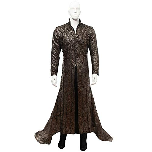 QWEASZER die Hobbit kostüme Goblin King Cosplay kostüm Fancy Dress Tops, Hosen, Westen, Handschuhe Halloween kostüm Requisiten Deluxe Edition,Elf King-XXL (Goblins Kostüm)