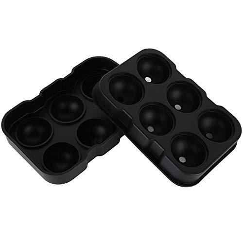 Pokerty EIS-Ball-Form, Silikon-EIS-Ball-Behälter-Frost-Form-Hersteller bearbeitet Verein-Stab-Partei-Getränk-Form, die 6 Eiswürfel gleichzeitig bildet