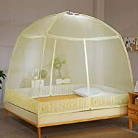 TOOSD Pop up Mosquito Net, for Bed Camping Baby Krippe Anti Mosquito Zelt Free Standing Kids Erwachsene Bottomed Bug Nets Outdoor Falten Popup Large Mesh Canopy,D,220 * 220