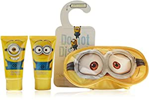 Minions Coffret Cadeau Gel Bain Douche 50 ml/Shampooing 2 en 1/Accessoire