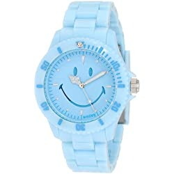 "Smiley ""Happy Time"" Ladies Pretty Pastel Blue Analogue Watch WGS-PPBV01"