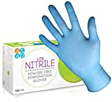 ASAP Blue Powder Free LITE Nitril-Untersuchungshandschuhe - Box 100 - für erhöhte Empfindlichkeit (M)