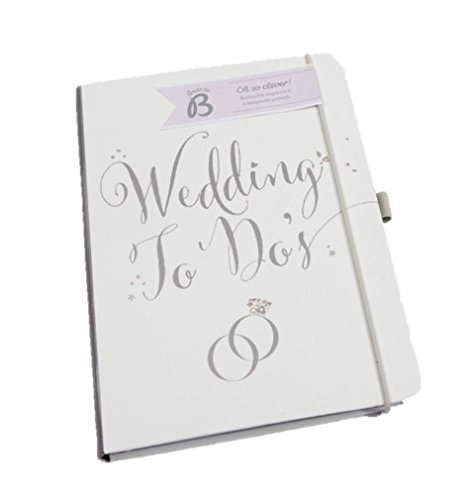 Busy B Bride to B Notizbuch für die Aufgaben der Hochzeitsplanung Dieser Planer hat die perfekte Größe, weiß/silber