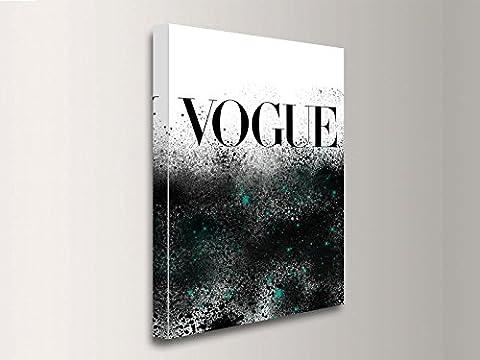 Cadre moderne couverture Magazine Vogue Grunge, impression sur toile vgv11 50x70 cm