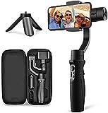 Handy Gimbal Stabilisator - 3-Achsen Gimbal Stabilizer für iPhone XR XS, Samsung S10/S9, Note 9/8, Huawei P30, Live-Videoaufnahme mit Sport-Aufnahme-Modus, Zeitraffer Zeitlupe, iSteady Mobile Plus