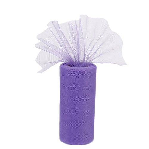 Demarkt Tüllstoff Tülldekostoff für Kleidung Deko Hochzeit Party 22m x 15cm lila