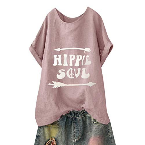 MCYs ❤ Frauen Beiläufige Feste Bluse Brief drucken Lose Kurzarm Shirt lustige Tops (1950er Themen Kostüm)
