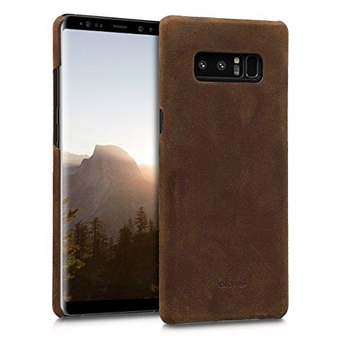 kalibri-Echtleder-Backcover-Hlle-fr-Samsung-Galaxy-Note-8-Leder-Case-Cover-Schutzhlle-in-Braun