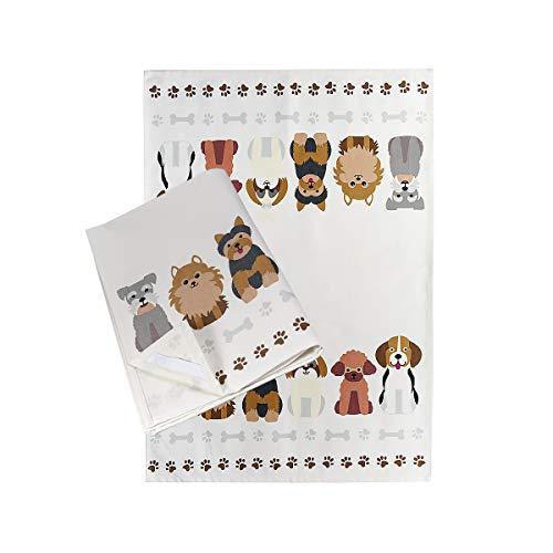 SPOTTED DOG GIFT COMPANY 2er Set Küchentücher Baumwolle, Abtrockentücher Küche, Hundemotiv Geschenk für Hundebesitzer und Hundeliebhaber
