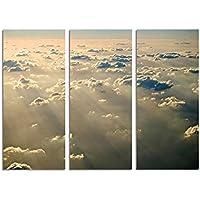 130x 90cm–telaio foto visibilità aereo nuvole raggi