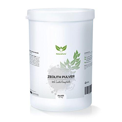 NaturaForte Zeolith Klinoptilolith Pulver 1000g extra fein in Premiumqualität, geprüft und kontrolliert in Deutschland