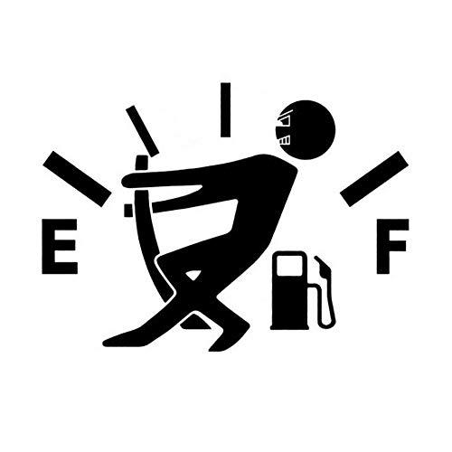 Lifemaison Auto Aufkleber EF Kraftstofftank Logo Lustige Pull Tank Pointer Wasserdicht Tank Aufkleber für Auto Logo-pull