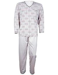 FORMEN Herren Schlafanzug,Pyjama - Beige