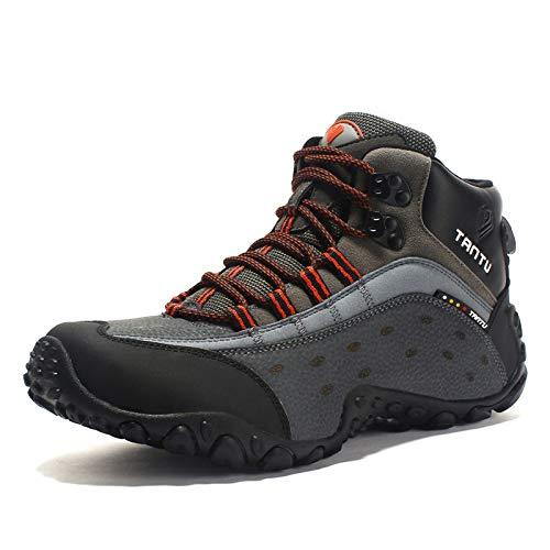 Scarpe da Trekking da Uomo (Unisex) Stivali Alti - Scarpe da Passeggio Impermeabili per Uomo, per Adulti Mandarino 43