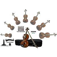 Sinfonie24 Set Geige/ Violine für Einsteiger aus Hamburger Geigenbau Manufaktur (Basic III) inkl. Bogen, Koffer, Griffbrettmarkierug, Schulterstütze, Dämpfer und Markensaiten (4/4)- Versand durch Amazon