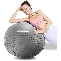 Mirumb Pelotas de Pilates»con la Bomba« Balon de Pilates Balones de Ejercicio 65cm-Gris