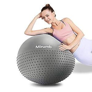 Mirumb Gymnastikball, Anti Burst Gymnastikball 75CM 65CM 55CM mit Pumpe...
