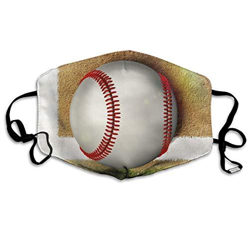 Daawqee Staubschutzmasken, Anti Dust Face Mouth Cover Mask Boundary Line Baseball Anti Pollution Breath Healthy Mask - Baseball-halloween-maske