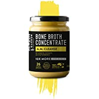 AM Cleanse - Performance Beef Bone Broth Concentrate Range - 260 grams - Lemon, ginger, turmeric, apple cider vinegar