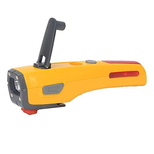 Preisvergleich Produktbild Handheld wiederaufladbare Taschenlampe Taschenlampe Licht 2000 mAh Tragbarer Akku Power Bank Externer USB Ladegerät mit Handkurbel Dynamo Power Generator