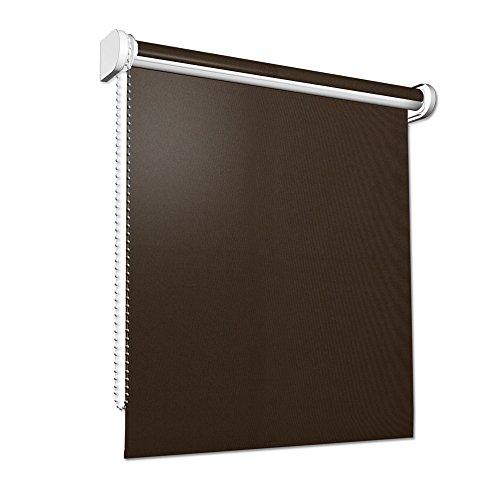VICTORIA M Sichtschutzrollo, lichtdurchlässiges, halbtransparentes Rollo für Türen/80 x 230cm/braun