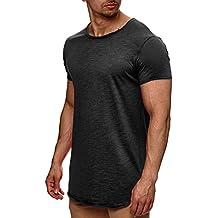 954a57b58af7f1 Indicode Herren Willbur Herren T-Shirt Kurzarm Shirt mit Rundhalsausschnitt  30 Farben S-3XL