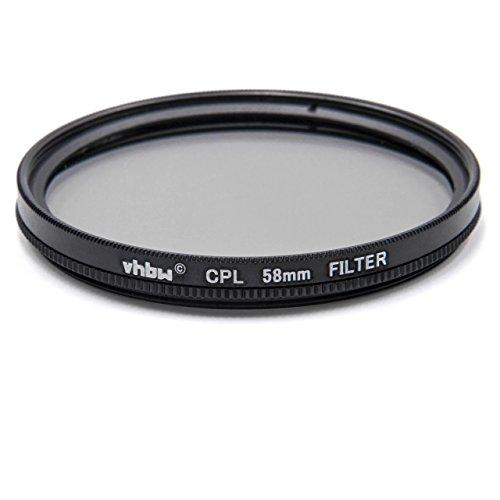 vhbw Universal CPL-Pol-Filter 58mm für Kamera Canon Casio Pentax Olympus Panasonic Sony Nikon Ricoh Sigma Tamron Samsung Fujifilm Agfa Minolta Kodak.
