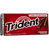 Trident Sugar Free Gum, Cinnamon,18-Stick (pack of 2)