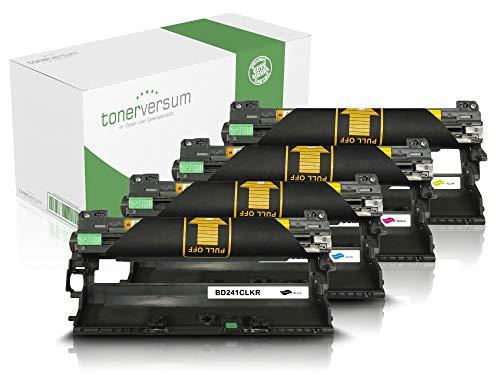 4 Trommeln kompatibel zu Brother DR-241CL Trommeleinheit für DCP-9020cdw HL-3140cw MFC-9332cdw MFC-9330cdw MFC-9140cdn MFC-9340cdw Laserdrucker DR241 Set -
