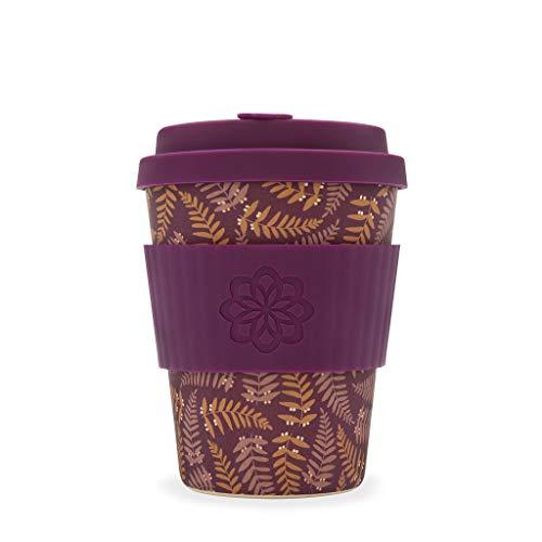 Ecoffee Cup Tiny Garden Beatrix 340,2 gram/340ml Fleurs | réutilisable en bambou Tasse à café