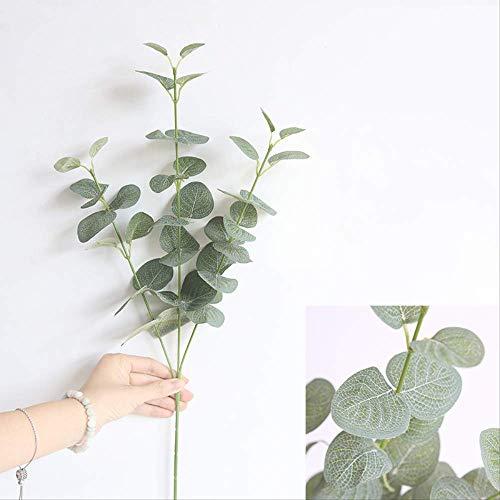 ZHYDNKD Künstliche Blume Simulation Blumenzubehör Künstliche Blätter Zweig Retro Grün Eukalyptusblatt Für Wohnkultur HochzeitsdekorationGrün (Trockner Blätter, Lavendel)