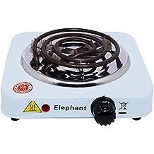Elephant–Hornillo eléctrico para carbón (de Shisha, bambú o cáscaras, blanco, pack de 1 unidad