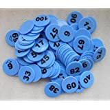 Brown Leaf Plastic Numerical Token/Coins (Multicolour) - Pack of 1 to 200