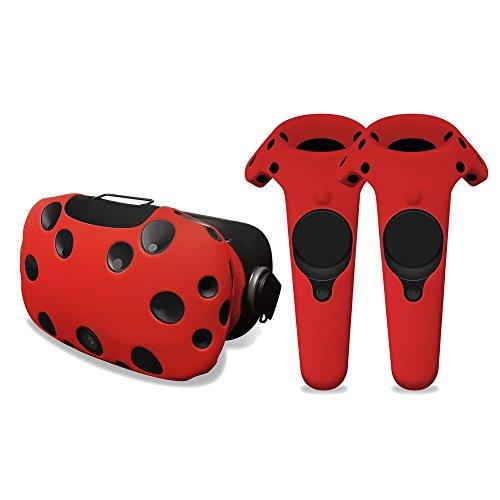 Schutzhülle - Kopfhörer und Bedienelemente - Silikon - HTC Vive (Rot)
